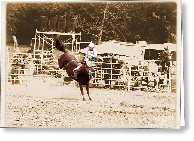 Helluva Rodeo-the Ride 3 Greeting Card