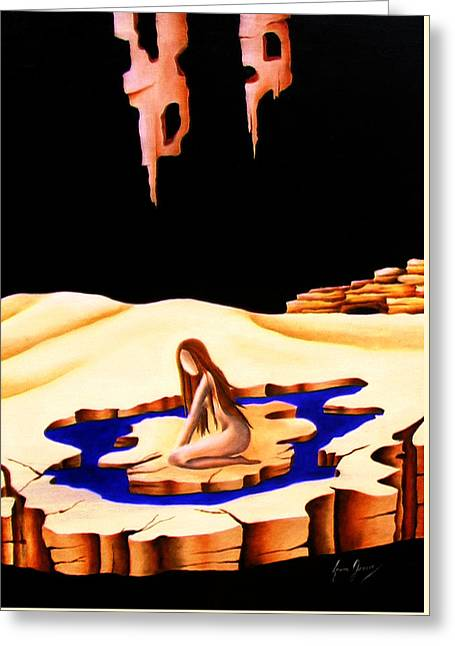 Helplessness Greeting Card by Laura Greco