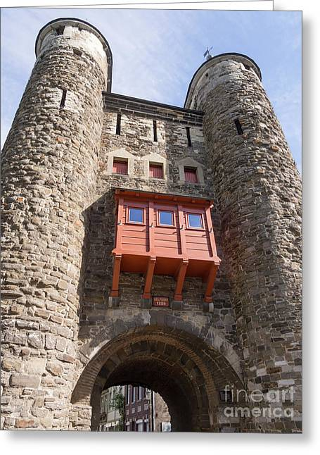 Helpoort Or Hell's Gate In The Old City Wall Maastricht Greeting Card