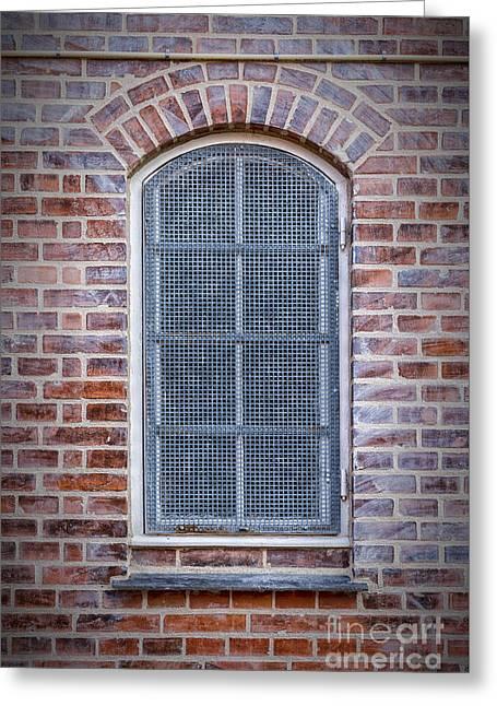 Helsingor Grilled Window Greeting Card by Antony McAulay