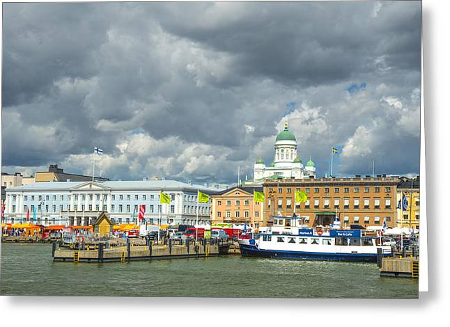 Helsinki, South Harbor Greeting Card