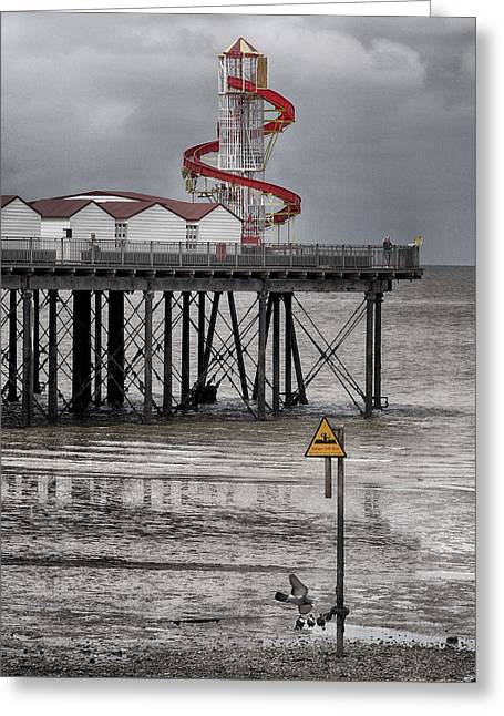Helter Skelter - Herne Bay  Greeting Card by Philip Openshaw