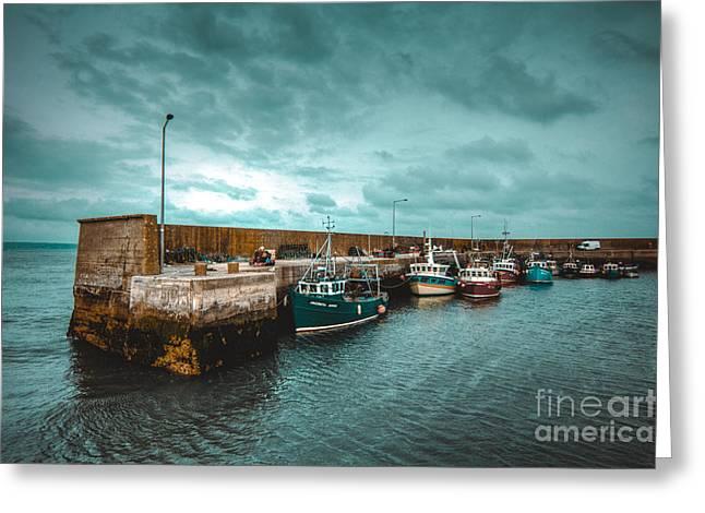 Helvick Harbour 2 Greeting Card