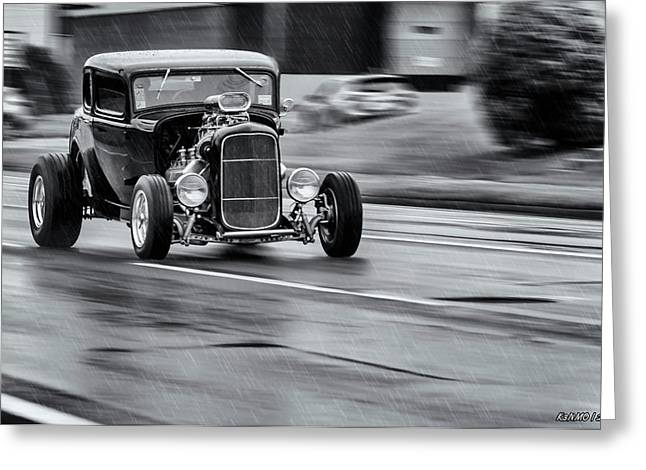 Hemi Powered 1932 Ford 5 Window Coupe Greeting Card by Ken Morris
