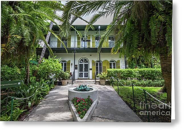 Hemingway House Entrance, Key West Greeting Card