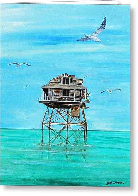 Hemingway Stilt House Greeting Card
