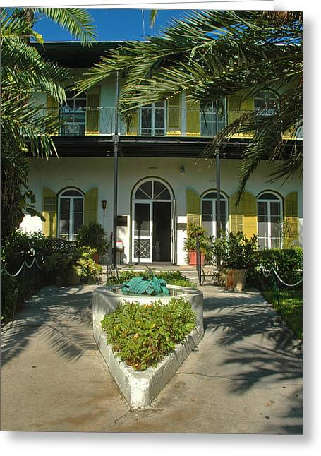 Hemingways House Key West Greeting Card by Susanne Van Hulst