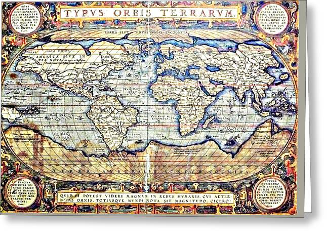 Hemisphere World  Greeting Card