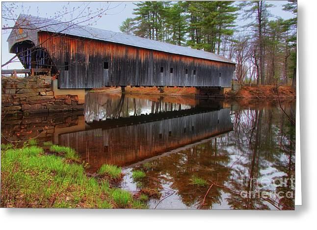 Hemlock Covered Bridge Fryeburg Maine Greeting Card