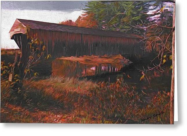 Hemlock Covered Bridge Greeting Card