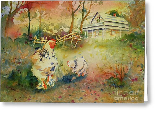 Hen And Rooster Greeting Card