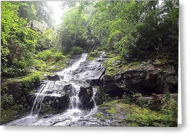 Hen Wallow Falls Great Smoky Mountains National Park Greeting Card