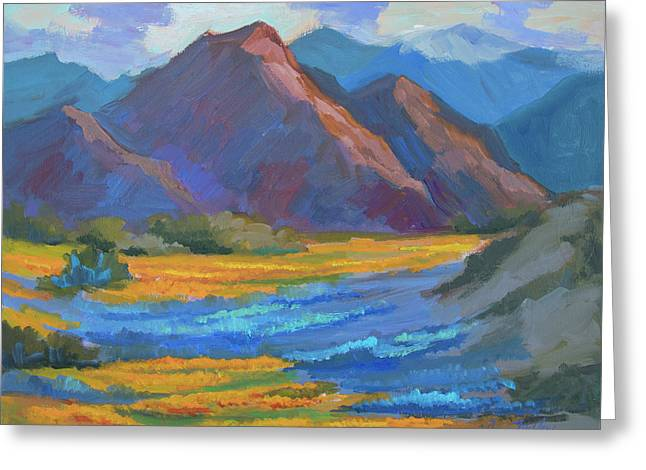 Greeting Card featuring the painting Henderson Canyon Borrego Springs by Diane McClary