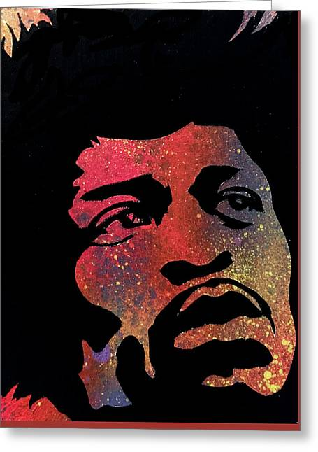 Hendrix Greeting Card by Dennis Wells