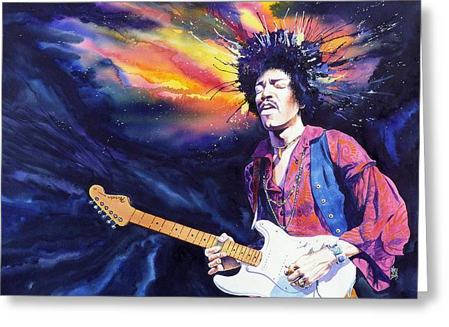 Jimi Hendrix Paintings Greeting Cards - Hendrix Greeting Card by Ken Meyer jr