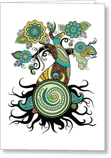 Henna Tree Of Life Greeting Card
