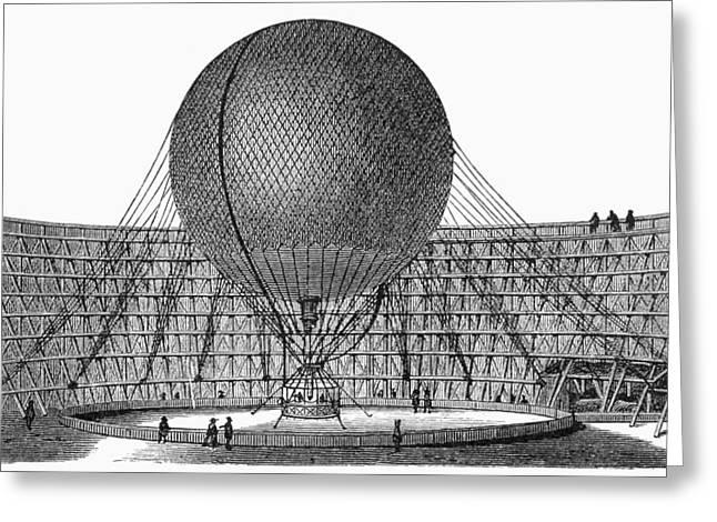 Henri Giffard: Balloon Greeting Card