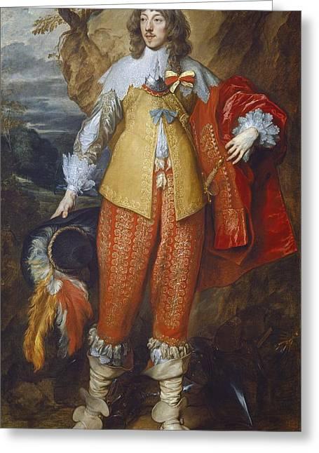 Henri II De Lorraine Greeting Card by Sir Anthony Van Dyck