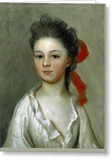 Henriette Charlotte Chastaigner. Mrs. Nathaniel Broughton Greeting Card by Henrietta Johnston