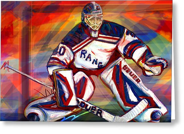 Henrik Lundqvist2 Greeting Card by Steve Benton