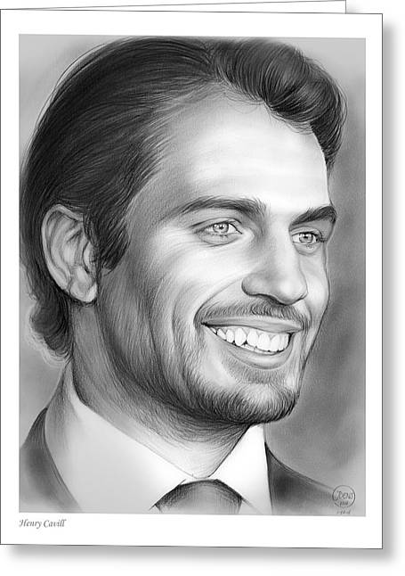 Henry Cavill Greeting Card by Greg Joens