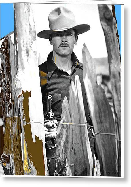 Henry Fonda Wyatt Earp My Darling Clementine 1946 At The Ok Corral Greeting Card