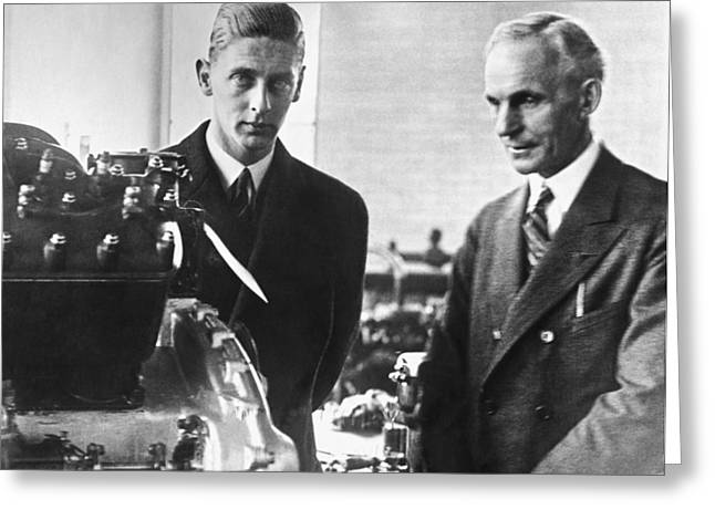 Henry Ford & Prince Nicholas Greeting Card