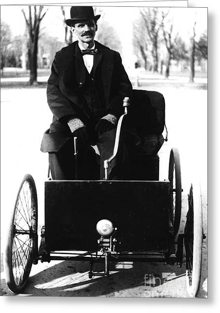 Henry Ford, American Industrialist Greeting Card by Science Source