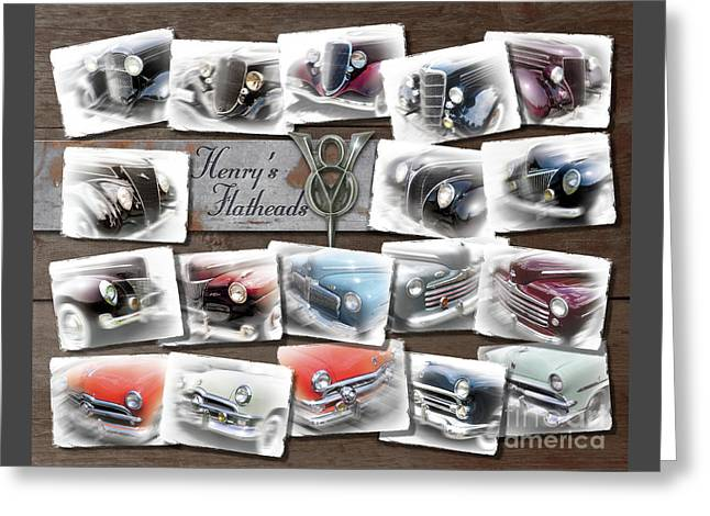 Henry Ford's Flathead V-8s Greeting Card