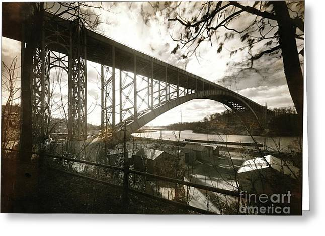 Greeting Card featuring the photograph Henry Hudson Bridge, 1936 by Cole Thompson