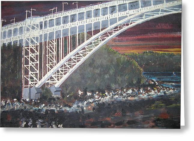 Henry Hudson Bridge Greeting Card