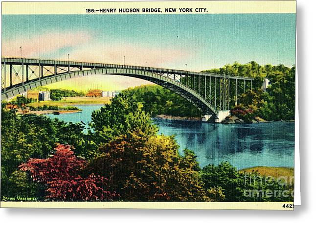 Henry Hudson Bridge Postcard Greeting Card