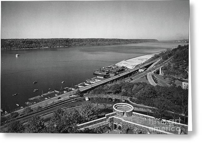 Greeting Card featuring the photograph Henry Hudson Parkway, 1936 by Cole Thompson