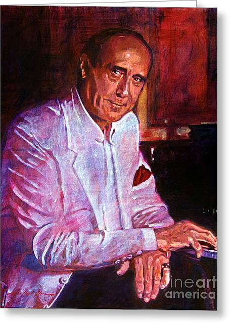 Henry Mancini Greeting Card by David Lloyd Glover