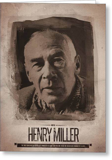 Henry Miller 01 Greeting Card