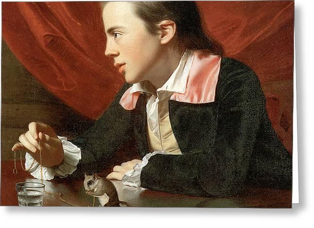 Henry Pelham Boy With A Squirrel Greeting Card by John Singleton Copley