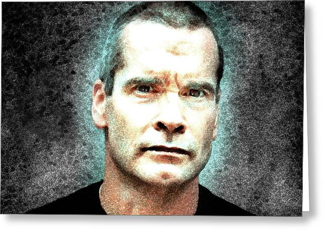 Henry Rollins - The Rollins Stare  Greeting Card