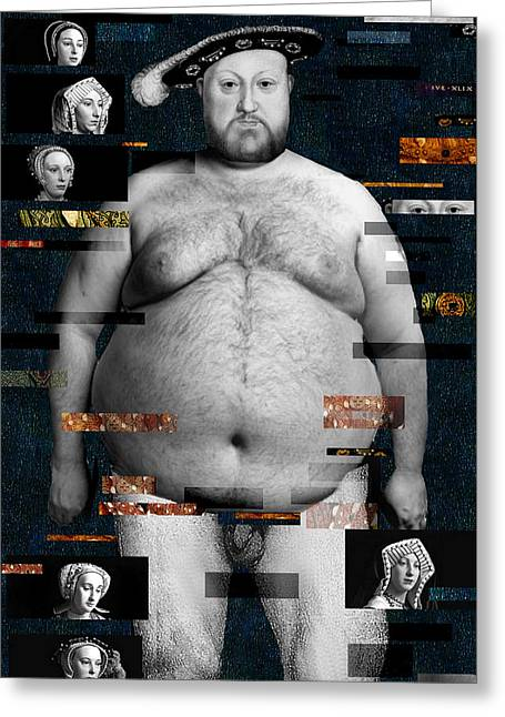 Henry Viii Nude Greeting Card