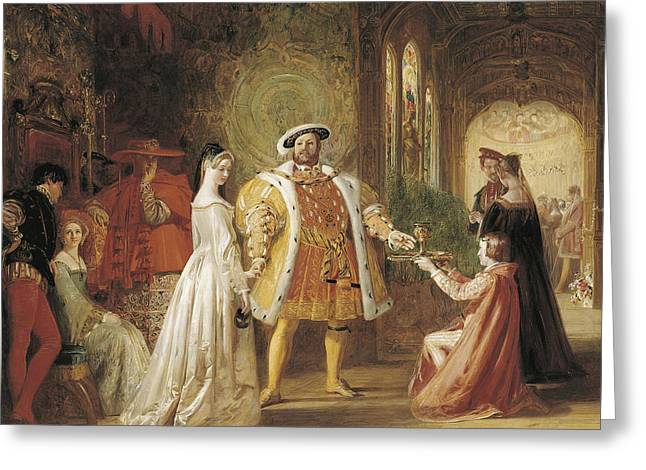 Henry Viiis First Interview With Anne Boleyn Greeting Card