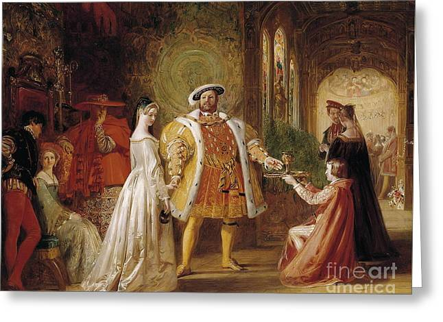 Henry Viils First Interview With Anne Boleyn Greeting Card