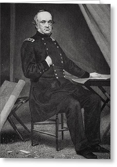 Henry Wager Halleck 1815 - 1872. Union Greeting Card by Vintage Design Pics