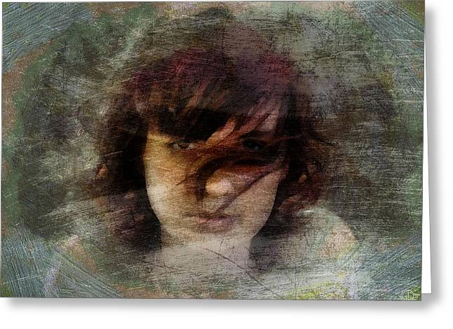 Greeting Card featuring the digital art Her Dark Story by Gun Legler