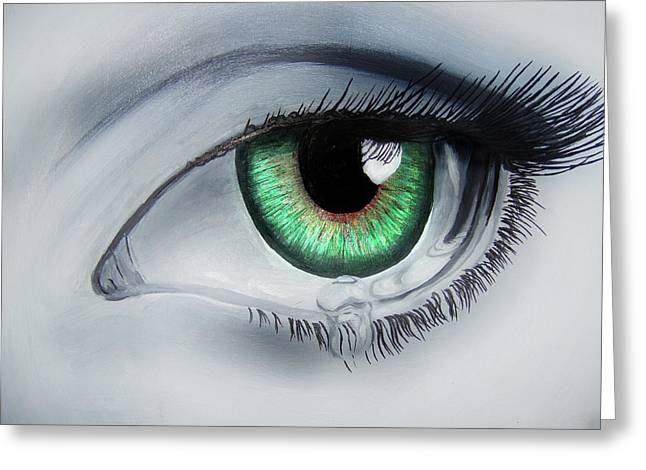 Her Eye Greeting Card by Michael McKenzie