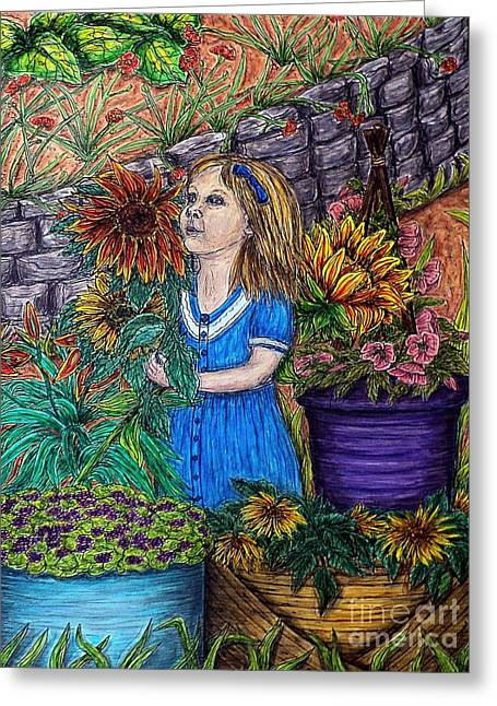 Her First Garden Greeting Card by Kim Jones