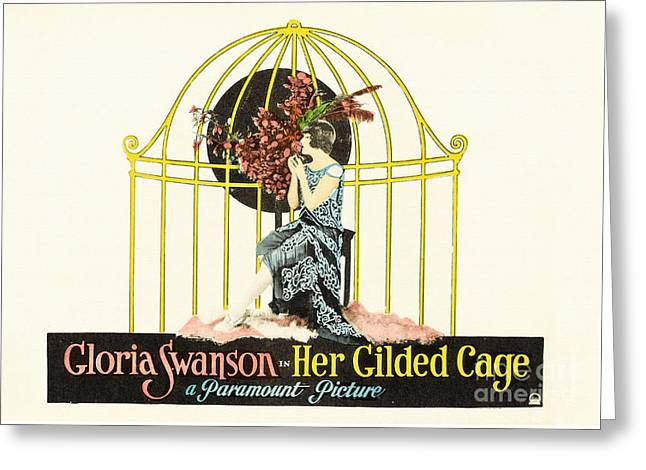 Her Gilded Cage Paramount 1922 Greeting Card by Vintage Printery
