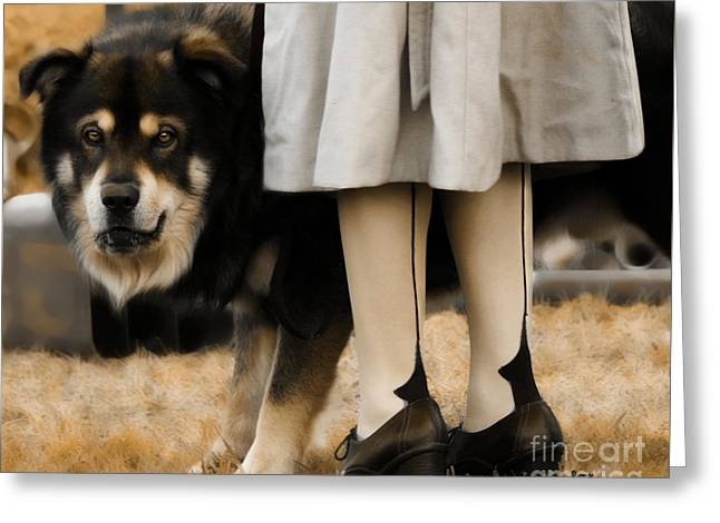 Her Guardian  Greeting Card by Steven  Digman