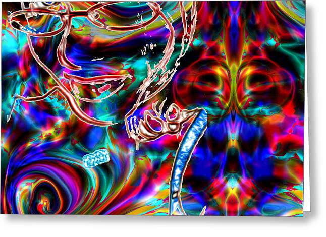 Her Love Is Delicious Greeting Card by Abstract Angel Artist Stephen K