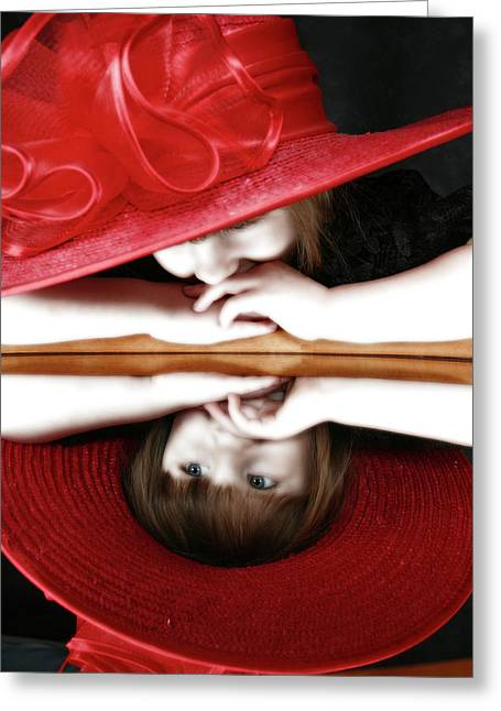 Her Mother's Eyes Greeting Card