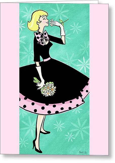 Her Name Is Daisy Greeting Card by Little Bunny Sunshine