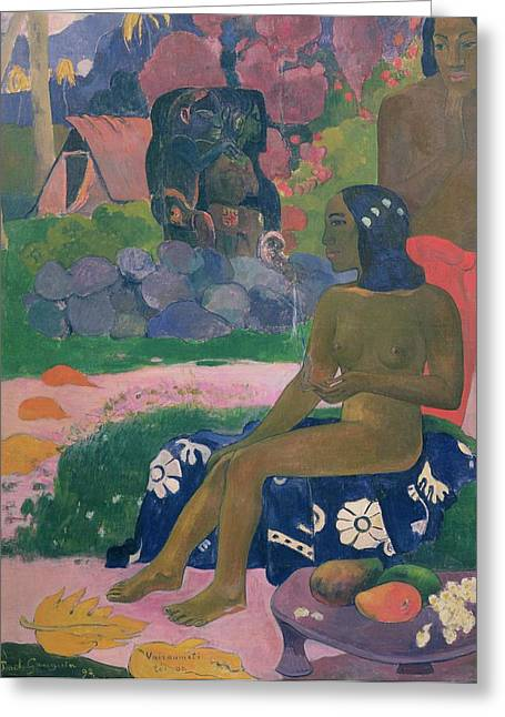 Her Name Is Vairaumati Greeting Card by Paul Gauguin